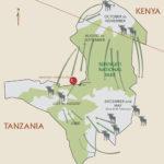 Great Wildebeest Migration safari map