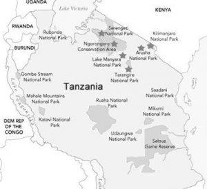 About Us Tanzania Safari Map
