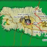 Kilimanjaro Map Rongai 6 Days Itinerary
